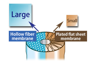 Comparison of the Membrane Surface Area in Same Size Modules